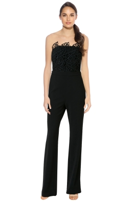 Rebecca Vallance - Sophia Lace Jumpsuit - Black - Front