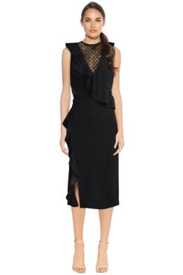 Rebecca Vallance - Gabriella Spot Lace Midi Dress - Front