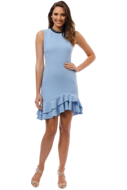 Rebecca Vallance - Yves Mini Dress - Blue - Front