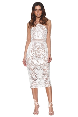 Grace & Hart - Renaissance Midi Dress - White - Front