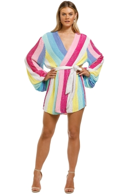 Retrofete-Gabrielle-Robe-Dress-Unicorn-Stripes-Front