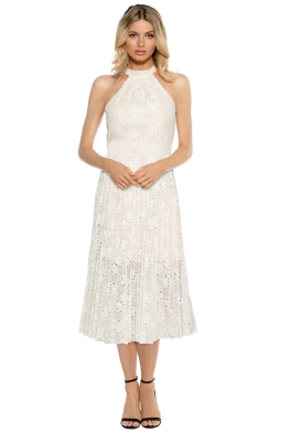 Rodeo Show - Ivory Manette Dress - Ivory - Front