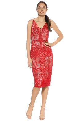 Rodeo Show - Olympia Lace Dress - Red - Front