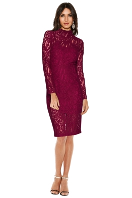 Rodeo Show - Thea Lace Dress In Fuchsia - Front