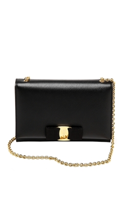 Salvatore Ferragamo - Miss Vara Mini Bag - Front - Black
