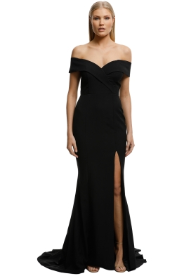 Samantha Rose-Gia Off Shoulder Gown-Black-Front