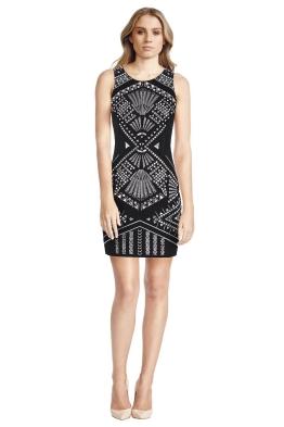 Sass Bide - Fins Fronds Fitted Dress - Black - Front