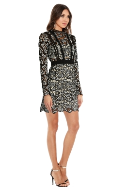 Self Portrait - Antoinette Floral Guipure Lace Dress - Side