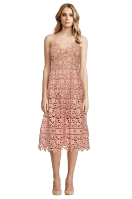 Self Portrait - Azalea Lace Midi Dress - Pale Pink - Spring Wedding