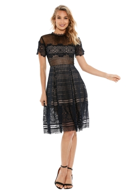 Self Portrait - Felicia Embroidered Dress - Front