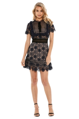 Self Portrait - Louisa Guipure Lace Dress - Front