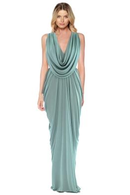 Sheike - Grecian Maxi Dress - Mint - Front