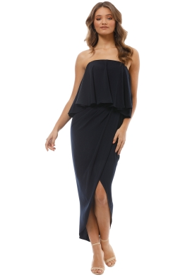 Shona Joy - Strapless Frill Drape Maxi Dress - Front