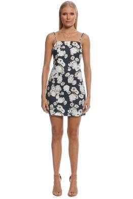 SIR the Label - Bellagio Mini Dress - Black Floral - Front