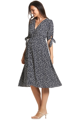 Soon-Maternity-Zippi-Dress-Navy-Speck-Front