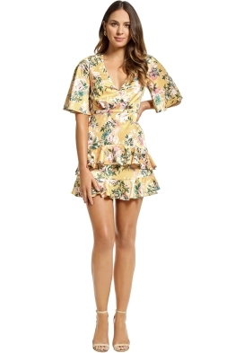 Stylestalker - Isabella A Line Dress - Yellow - Front