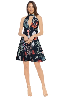 Stylestalker - Jasper Circle Dress - Front - Black Floral