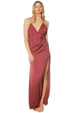 Stylestalker - Livia Maxi Dress - Berry - Front