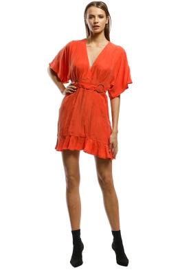 Suboo - Rocky Cross Over Mini Dress - Orange - Front