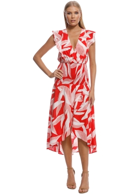 Suboo - Shirred Maxi Dress - Red Leaf - Back