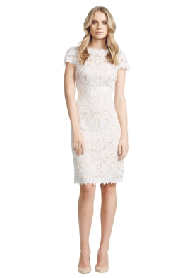 Tadashi Shoji - Corded Lace Dress - Front - White