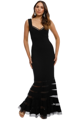 Tadashi Shoji - Annika Dress - Black - Front