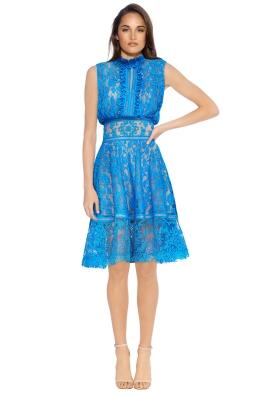 Tadashi Shoji - Francoise Cocktail Dress - Front - Blue