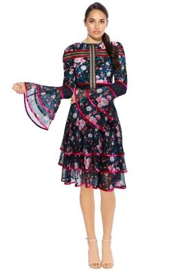 Tadashi Shoji - Lenoir Dress - Front - Floral Print