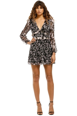 Talulah-Blooming-LS-Mini-Dress-Patchwork-Front