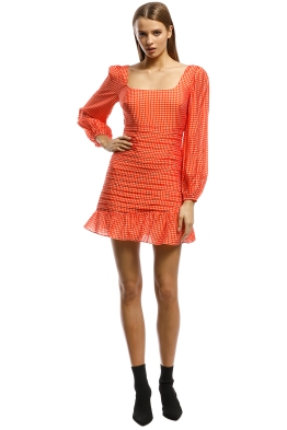 Talulah-Honey Hue LS Mini Dress-Orange-Front