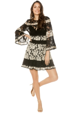 Talulah - Analog Mini Dress - Black Nude - Front
