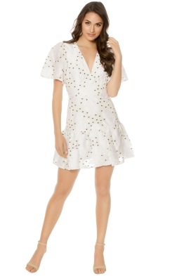 Talulah - Associates Mini Dress - White - Front