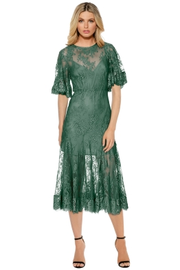 Talulah - Blind Love Midi Dress - Kale - Front