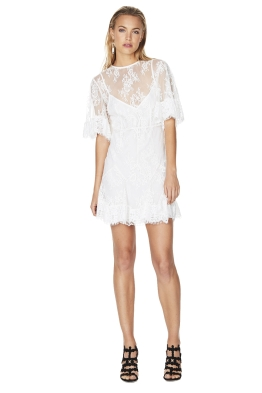 Talulah - Blind Love Mini Dress - White - Front