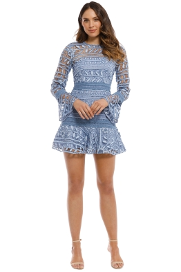 Talulah - Caprice Mini Dress - Blue - Front