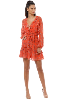 Talulah - Daring Day LS Mini Dress - Orange - Front