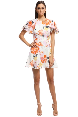 Talulah - Effervescent Mini Dress - Ivory Floral - Back