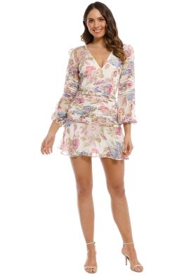 Talulah - Epiphany LS Mini Dress - Ivory Floral - Front