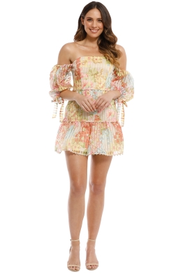 Talulah - Floraison Mini Dress - Vintage Bouquet Print - Front
