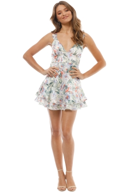 Talulah - Floral Mist Mini Dress - Multi - Front