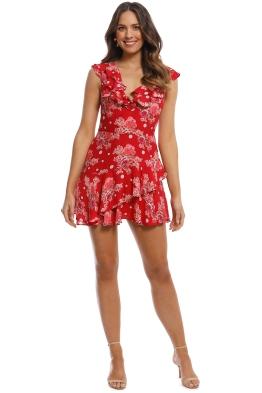 Talulah - Florence Ruffle Mini Dress - Red - Front