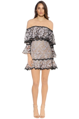 Talulah - Genre Off Shoulder Dress - Blush - Front