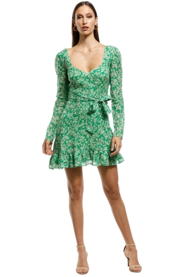 Talulah - Green With Envy LS Mini Dress - Green - Front