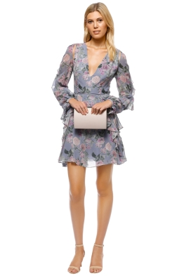 Talulah - Here and Now Mini Dress - Blue Floral - Front