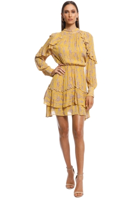 Talulah - In The Mix Mini Dress - Mustard - Front