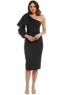 Talulah - Medina Midi Dress - Black - Front