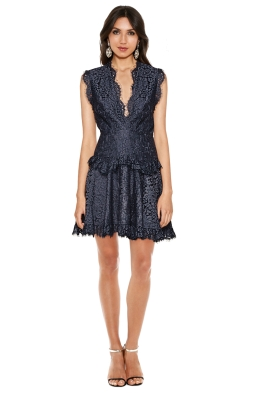 Talulah - Midnight Dream Mini Dress - Dust Navy - Front