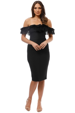Talulah - Monet Off Shoulder Dress - Black - Front