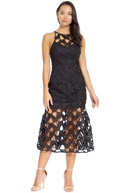 Talulah - Muse Midi Dress - Black - Front