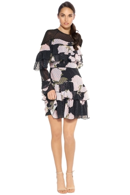 Talulah - New Woman Ruffle Mini - Floral Black - Front